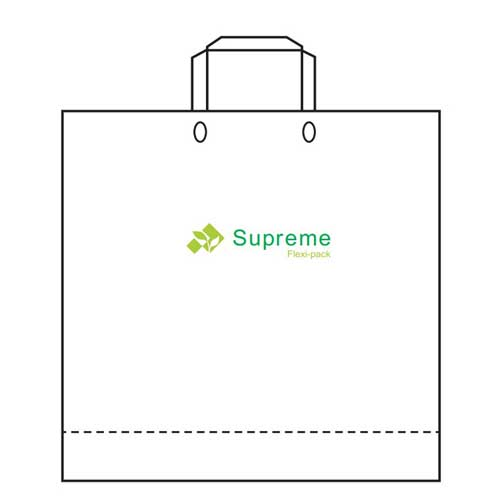 soft loop handle shopping bag